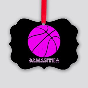 Pink Basketball Girls Ornament