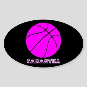 Pink Basketball Girls Sticker