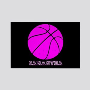 Pink Basketball Girls Magnets