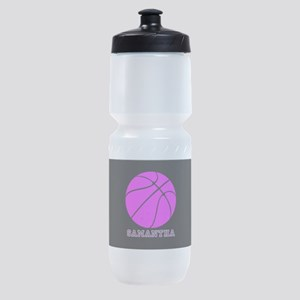 Pink Basketball Girls Sports Bottle