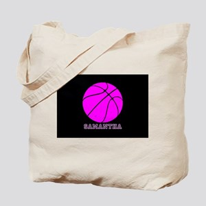 Pink Basketball Girls Tote Bag