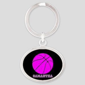 Pink Basketball Girls Keychains