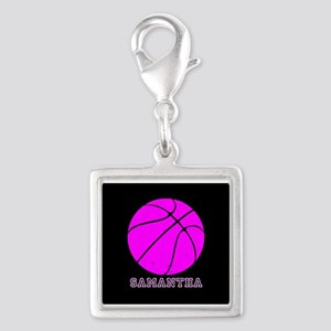 Pink Basketball Girls Charms