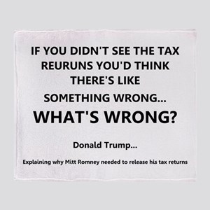 Donald On Other's Tax Returns Throw Blanket