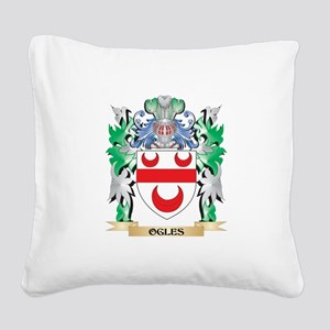 Ogles Coat of Arms - Family C Square Canvas Pillow