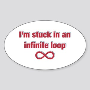 Infinite Loop Oval Sticker