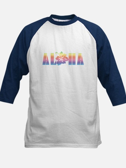 Aloha with Hibiscus Kids Baseball Jersey