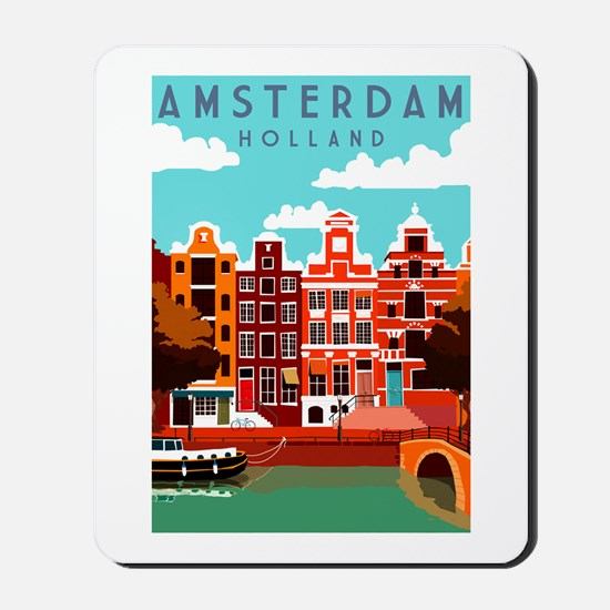 Amsterdam Holland Travel Mousepad