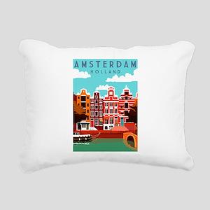 Amsterdam Holland Travel Rectangular Canvas Pillow