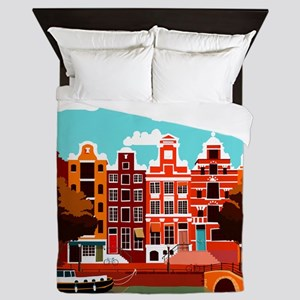Amsterdam Holland Travel Queen Duvet