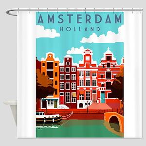 Amsterdam Holland Travel Shower Curtain