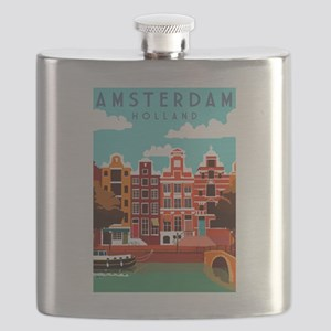 Amsterdam Holland Travel Flask
