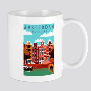 Amsterdam Holland Travel Mugs