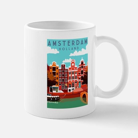 Amsterdam Holland Travel Mugs