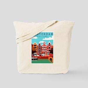 Amsterdam Holland Travel Tote Bag