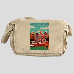 Amsterdam Holland Travel Messenger Bag