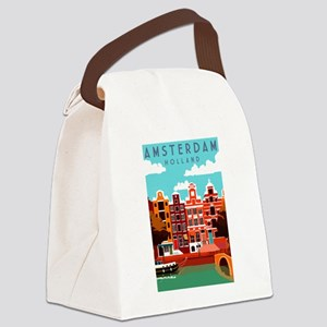 Amsterdam Holland Travel Canvas Lunch Bag