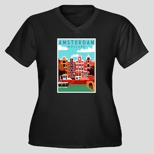 Amsterdam Holland Travel Plus Size T-Shirt