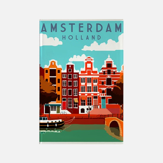 Amsterdam Holland Travel Magnets