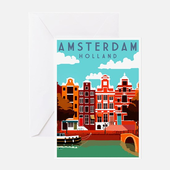 Amsterdam Holland Travel Greeting Cards