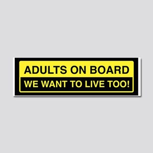 Adults On Board Car Magnet 10 x 3