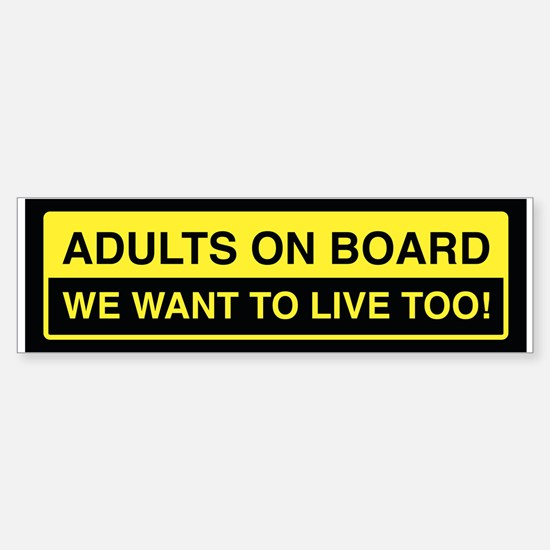 Adults On Board Bumper Bumper Bumper Sticker