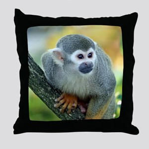 Monkey004 Throw Pillow