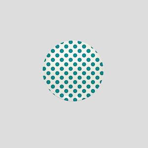 Aqua Blue Polka Dots Mini Button