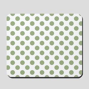 Sage Green Polka Dots Mousepad