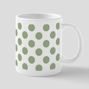 Sage Green Polka Dots Mugs