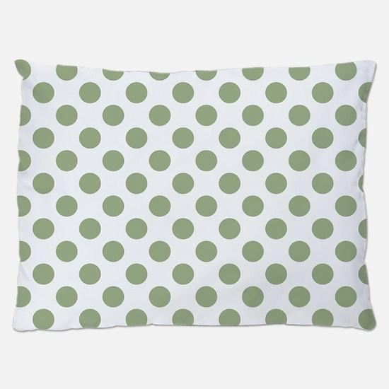 Sage Green Polka Dots Dog Bed