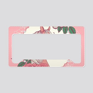 Cute Pony License Plate Holder
