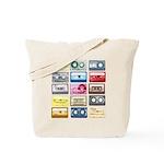 Mixtapes Color Cassette Tote Bag