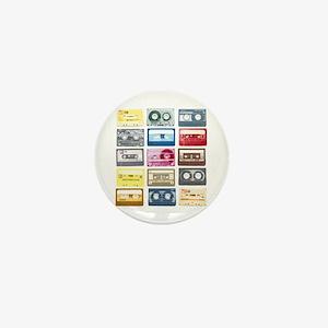 Mixtapes Color Cassette Mini Button