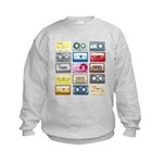 Mixtapes Color Cassette Kids Sweatshirt