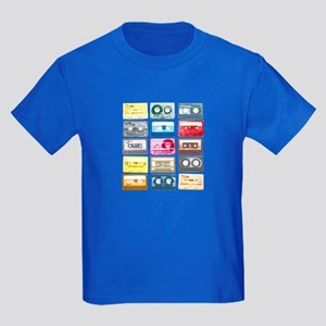Mixtapes Color Cassette Kids Dark T-Shirt