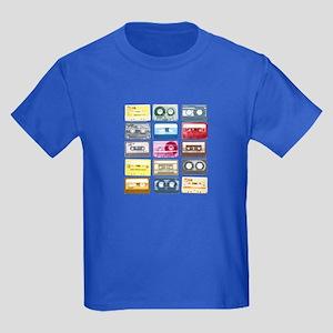 Mixtapes Color Cassette Kids Dark T-Shirt