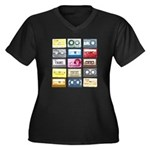 Mixtapes Women's Plus Size V-Neck Dark T-Shirt