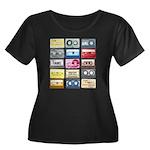 Mixtapes Women's Plus Size Scoop Neck Dark T-Shirt