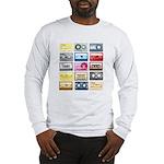 Mixtapes Color Cassette Long Sleeve T-Shirt