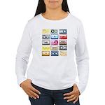 Mixtapes Color Cassette Women's Long Sleeve T-Shir