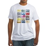 Mixtapes Color Cassette Fitted T-Shirt