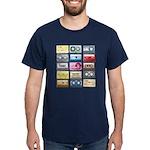 Mixtapes Color Cassette Dark T-Shirt