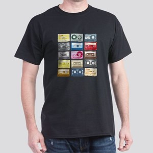 Mixtapes Color Cassette Dark T-Shirt