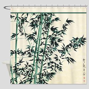 Oriental Bamboo Shower Curtain