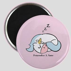 Cute Hand Drawn Sleeping Unicorn Magnet