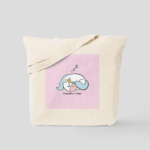 Cute Hand Drawn Sleeping Unicorn Tote Bag