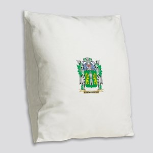O'Shaughnessy Coat of Arms - F Burlap Throw Pillow