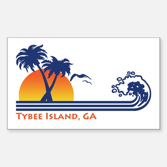 Tybee Island GA Sticker (Rectangle)
