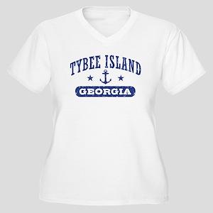 Tybee Island Women's Plus Size V-Neck T-Shirt
